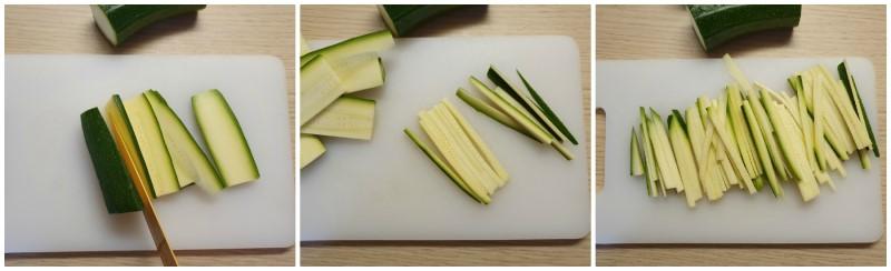 Preparazione delle verdure per Noodles