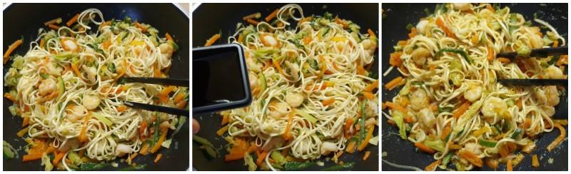 Noodle con verdure pronti
