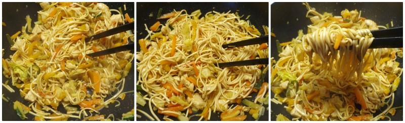 Noodles con pollo pronti