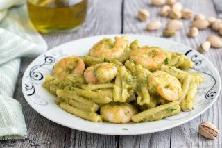 Pasta gamberi e pistacchi ricetta