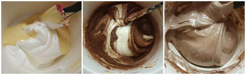 Montata di uova - Base torta ai tre cioccolati
