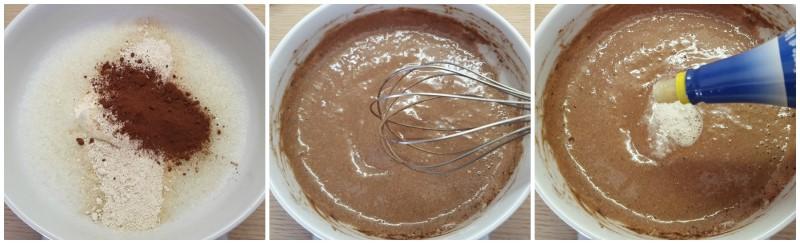 Aggiunta di farina di avena e cacao - Pancake proteico