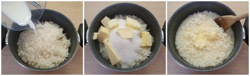 Preparazione del riso - Pastiera di riso