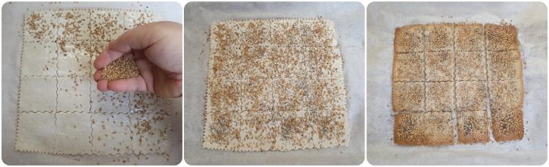 Cottura dei Crackers di riso ricetta