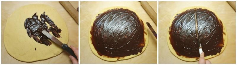 Spalmare la crema al cioccolato - Cornetti al cioccolato