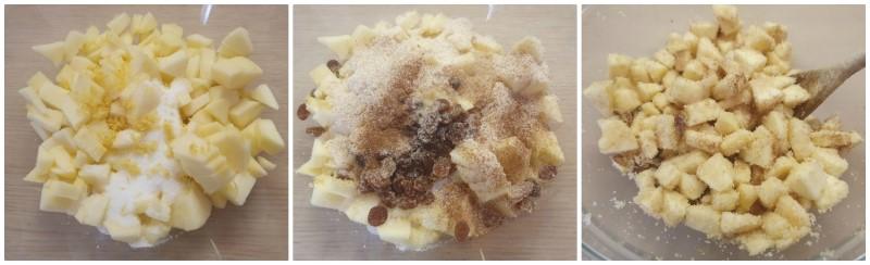 Il ripieno di mele, cannella e uvetta - Strudel di mele ricetta semplice