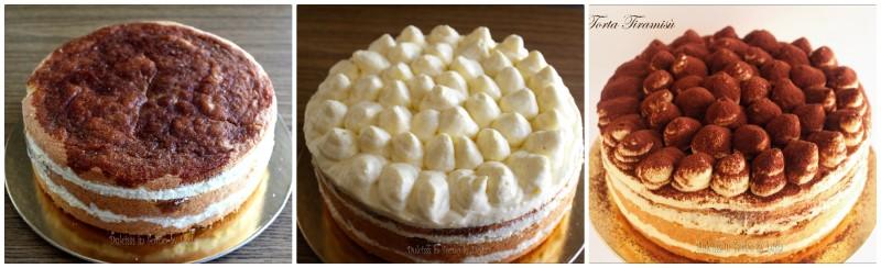 Farcitura e decorazione torta tiramisu