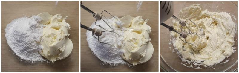 Lavorazione mascarpone e zucchero a velo - Ricetta Tiramisu pan di stellle