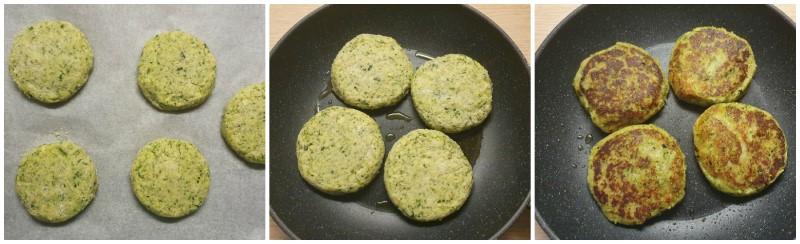 Cottura degli Hamburger di zucchine
