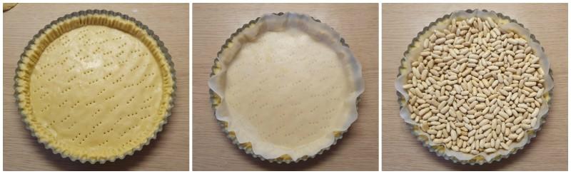 Cottura in bianco della Crostata alla frutta ricetta