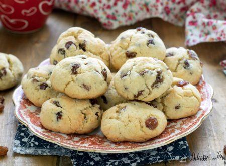 Biscotti con uvetta morbidi (ricetta veloce)