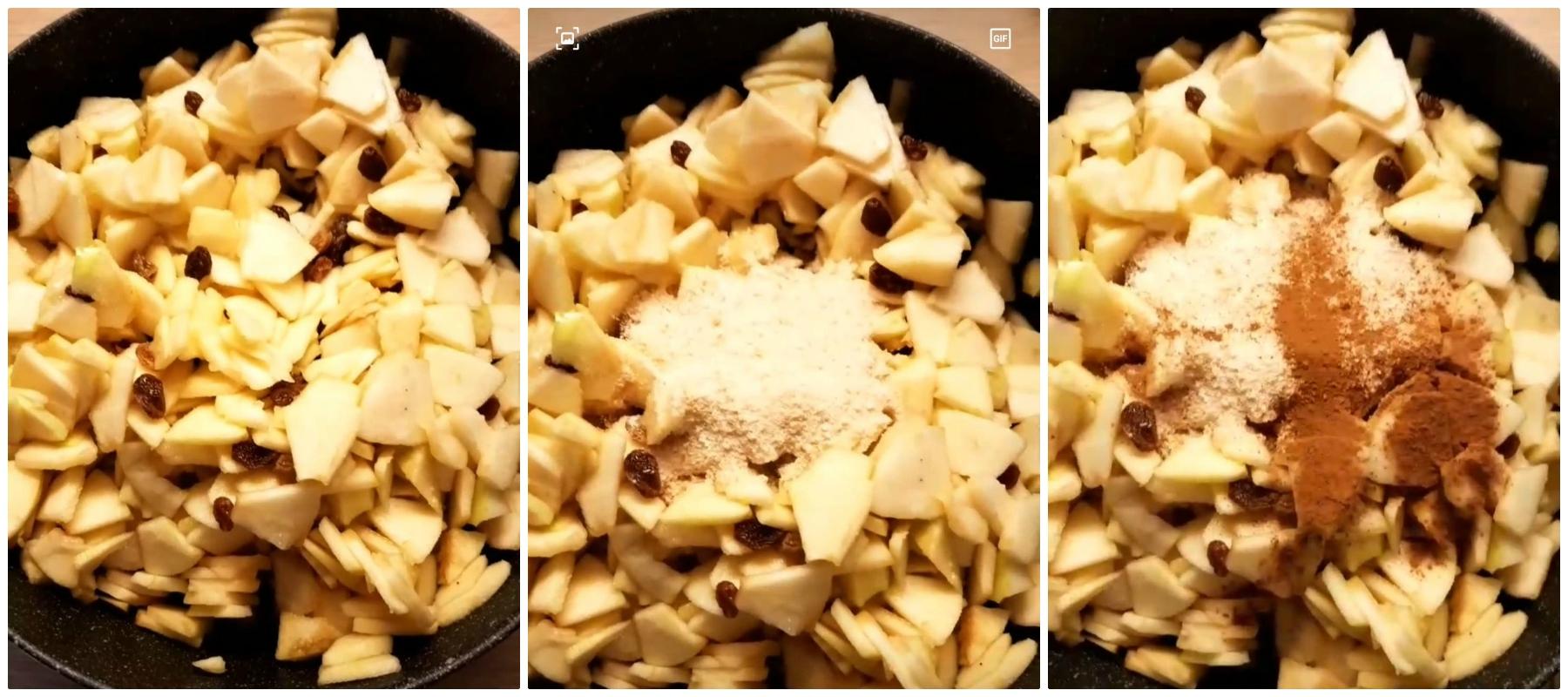 Precottura del ripieno - Strudel con pasta sfoglia ricetta