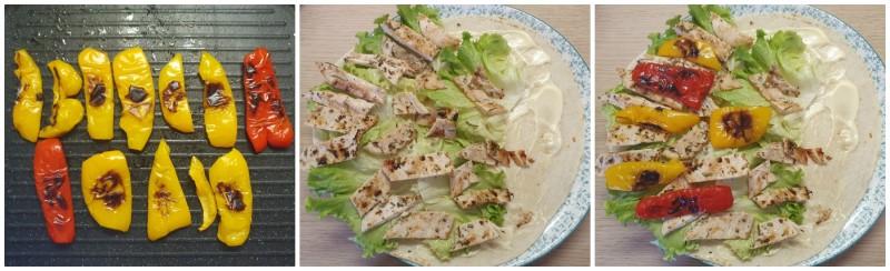 Piadina con pollo e peperoni grigliati - Wrap Chicken