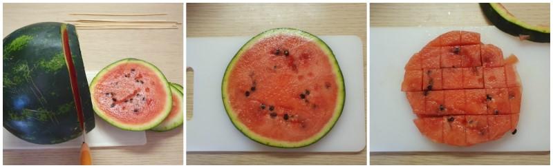 Preparazione della frutta - Ricetta spiedini di frutta
