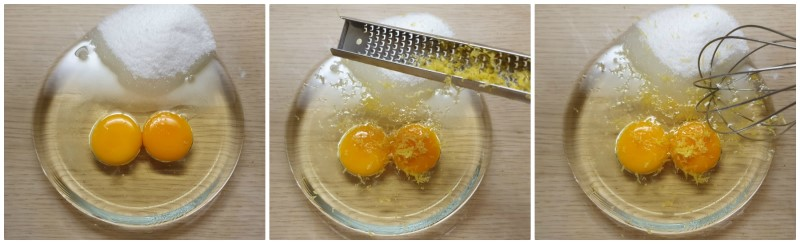 Amalgamare uova, olio e zucchero - Ricetta Biscotti senza burro