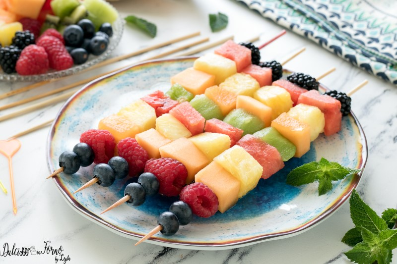 Spiedini di frutta ricetta