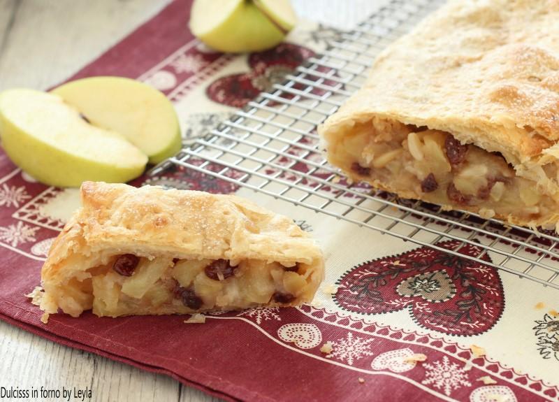 Strudel di mele con pasta sfoglia - ricetta Strudel con pasta sfoglia