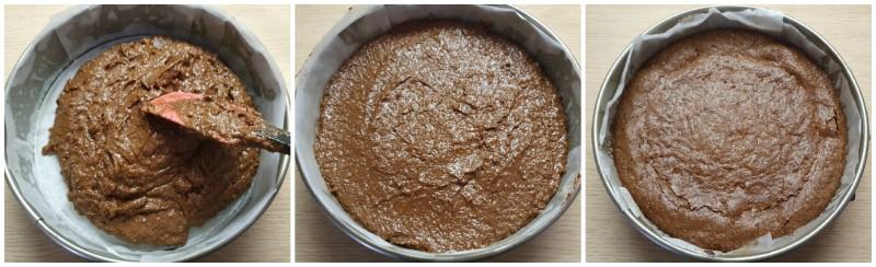 Cottura della Torta Caprese al cioccolato