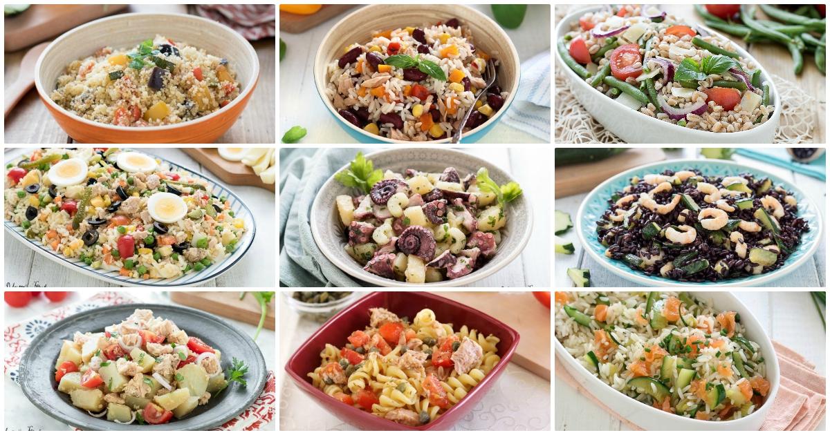 Insalate estive ricette - Insalate sfiziose, insalate particolari, ricette estive