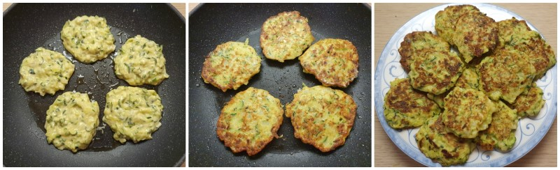 Ricetta frittelle di zucchine pronte