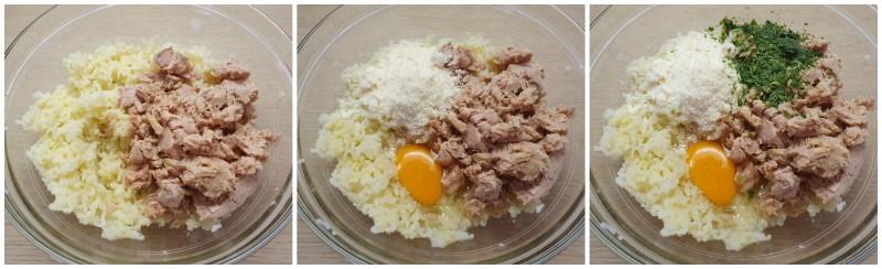 Aggiunta di tonno e uovo - Polpettone di tonno al forno