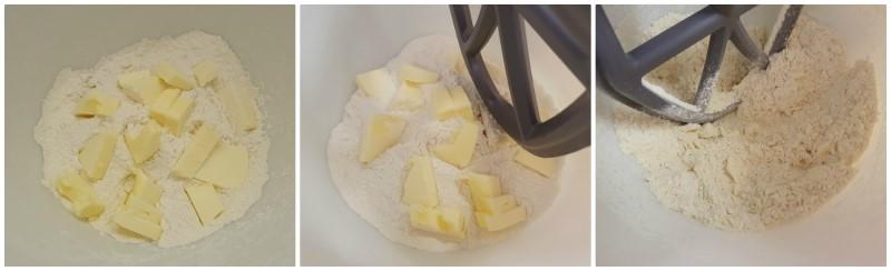 Amalgamare farina e burro - Ricetta Cestini di frutta
