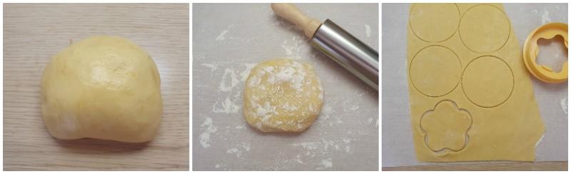 Stendere la pasta sablè - Ricetta Crostatine alla frutta