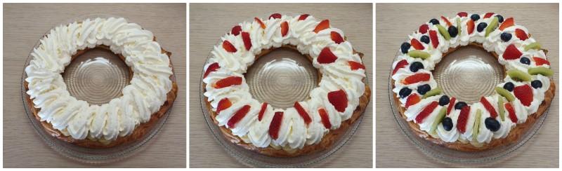Decorazione con frutta - Torta bignè