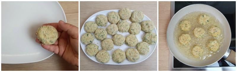 Cottura delle Polpette di zucchine e ricotta
