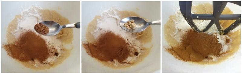 Unire farina e spezie - Ricetta biscotti Speculoos