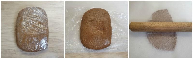 Stendere l'impasto biscotti dolci alla cannella