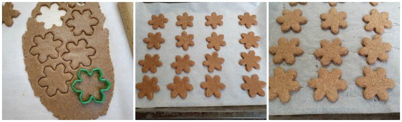 Cottura dei biscotti alla cannella