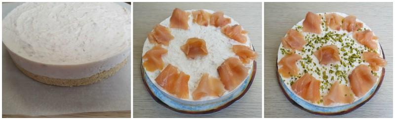 Cheesecake al salmone pronta