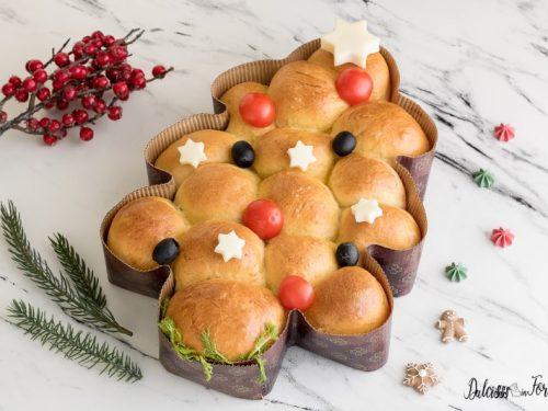 Albero di Natale salato (con pan brioche farcito)