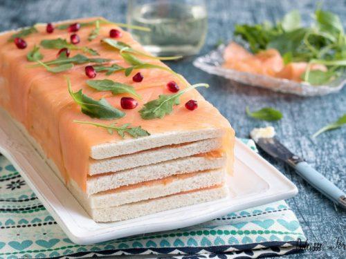Antipasto con salmone, ricetta mattonella di salmone affumicato