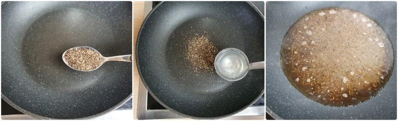 Scaldare il pepe - Ricetta pasta cacio e pepe