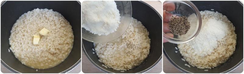 Unire pecorino e pepe - Ricetta Riso cacio e pepe