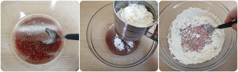 Unire la farina - Ricetta biscotti al vino