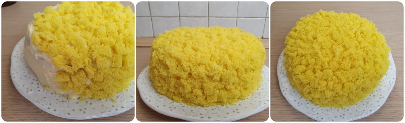 Decorazione torta mimosa