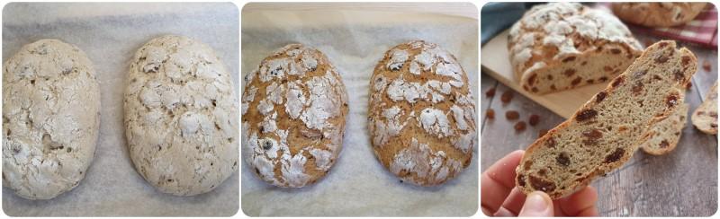 Cottura del pane con uvetta