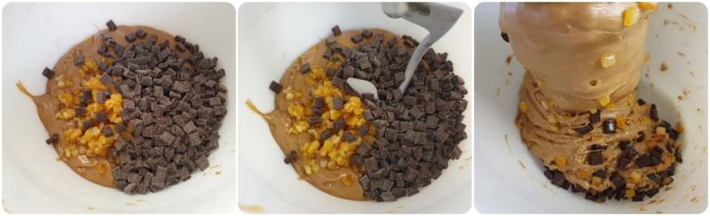 Unire canditi e gocce di cioccolato