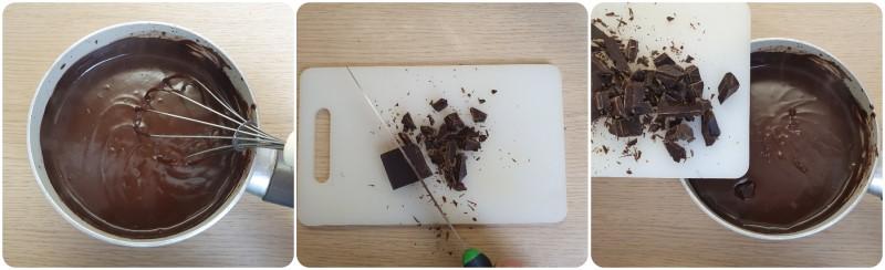 Unire il cioccolato fondente - Glassa al cioccolato per profitterol