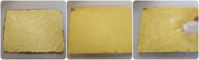 Farcitura torta con pan di spagna e pasta sfoglia