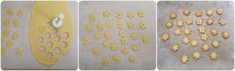 Cottura dei fiori di frolla