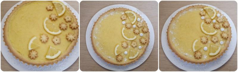 Decorazione crostata al limone