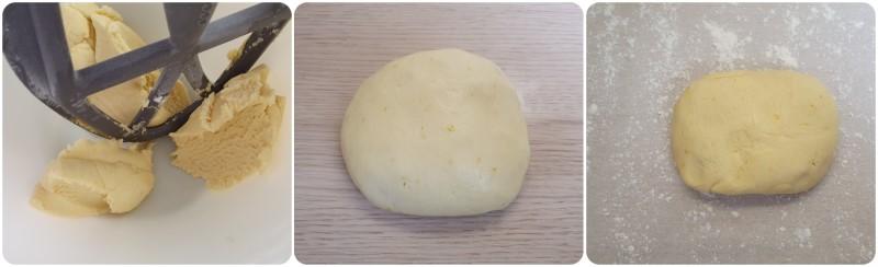 Pasta frolla al limone pronta