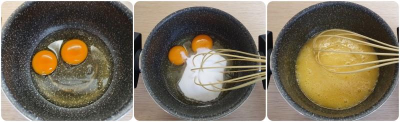 Sbattere uova e zucchero - Crema per Crostata al limone ricetta