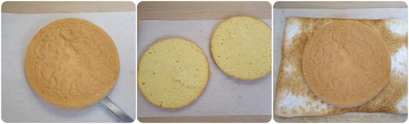 Tagliare il pan di spagna - Saint Honore ricetta