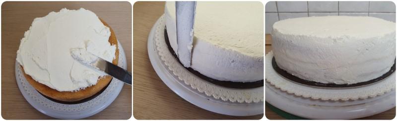 Rivestire la torta con la panna montata