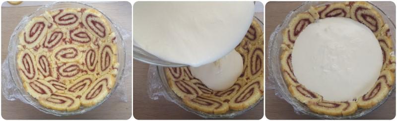 Versare la crema bavarese